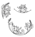 Abstract flower foliage round ornament vector image