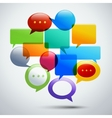 Abstract speech bubbles vector image vector image