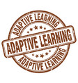 Adaptive learning brown grunge stamp