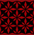 art abstract geometric dark red black pattern vector image vector image