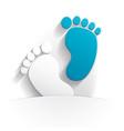 baby boy icon paper vector image vector image