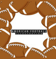 balls for american football closeup vector image vector image