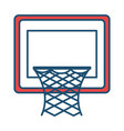 basketball basket isolated icon vector image vector image