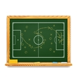Blackboard showing a schematic plan for football vector image vector image
