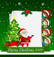 blank paper with merry christmas 2020 font logo vector image