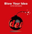 blow your idea vector image vector image