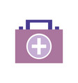briefcase and first aid kit urgency vector image vector image
