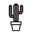 cactus in pot vector image vector image