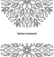 card with a round black and white ornaments vector image