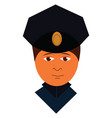 cartoon police officer on a white background vector image