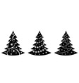 christmas trees illustration in vector vector image vector image