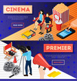 cinema premiere banners set vector image vector image
