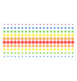 cog shape halftone spectrum pattern vector image vector image