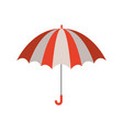 color silhouette with opened umbrella vector image vector image
