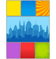 colorful comic composition vector image vector image