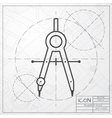 compasses icon vector image