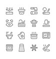 cooking related set line icons vector image vector image
