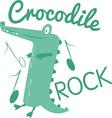 Crocodile Rock vector image vector image