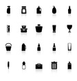 Design package icons with reflect on white vector image