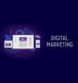 digital marketing - online advertising media vector image vector image