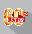 Discount 60 Percent Off vector image vector image