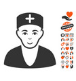 doctor icon with lovely bonus vector image vector image