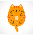 doodle sleeping red cat vector image