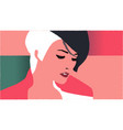 female face close-up fashion vector image