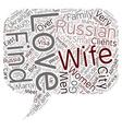 Find a Russian Wife Ukrainian Wife Russian Bride vector image