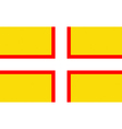 Flag of Dorset vector image vector image