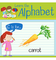 Flashcard letter C is for carrot vector image vector image