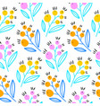 floral abstract seamless pattern spring pattern vector image