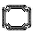 Floral label frame 5 vector image vector image