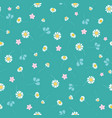 green daisies ditsy seamless pattern vector image vector image