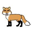 happy dog fox vector image vector image