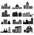 house and building icons vector image vector image