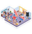 isometric renovation repair composition vector image vector image