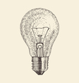 light bulb vintage engraved vector image vector image