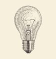 light bulb vintage engraved vector image
