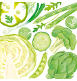 Mix of green vegetables vector | Price: 3 Credits (USD $3)