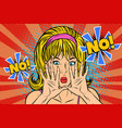 no pop art retro vintage blonde woman vector image
