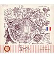 Paris postcard vector image vector image