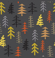 pine tree seamless pattern new year and christmas vector image
