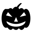 Pumpkin on halloween icon simple style vector image