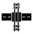 railroad crossing icon simple style vector image vector image