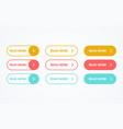 read more colorful button set vector image vector image