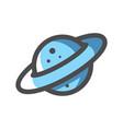 realistic planet saturn icon cartoon vector image