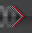 red line grey metal arrow on circle mesh vector image vector image