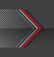 red line grey metal arrow on circle mesh vector image vector image