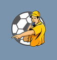 Referee Blowing Whistle vector image vector image